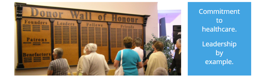 DONOR WALL OF HONOUR